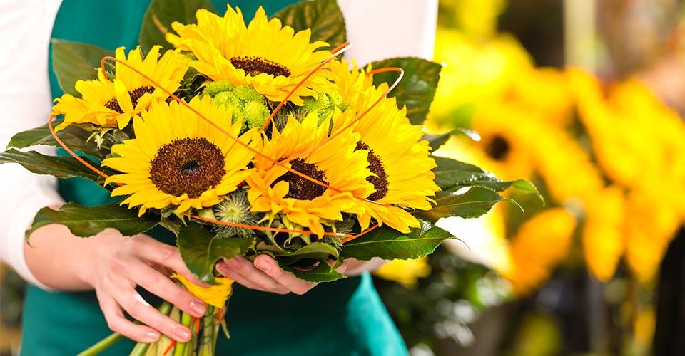 Kübelblumen und Blumensträuße